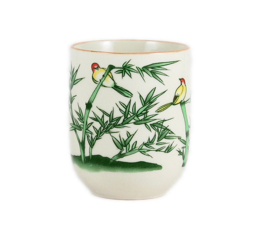 Green Bamboo Teacup