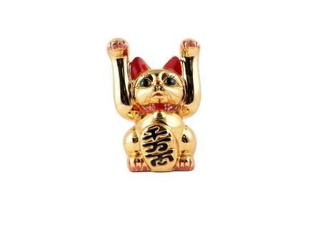 "6"" Double Hand Fortune Cat"