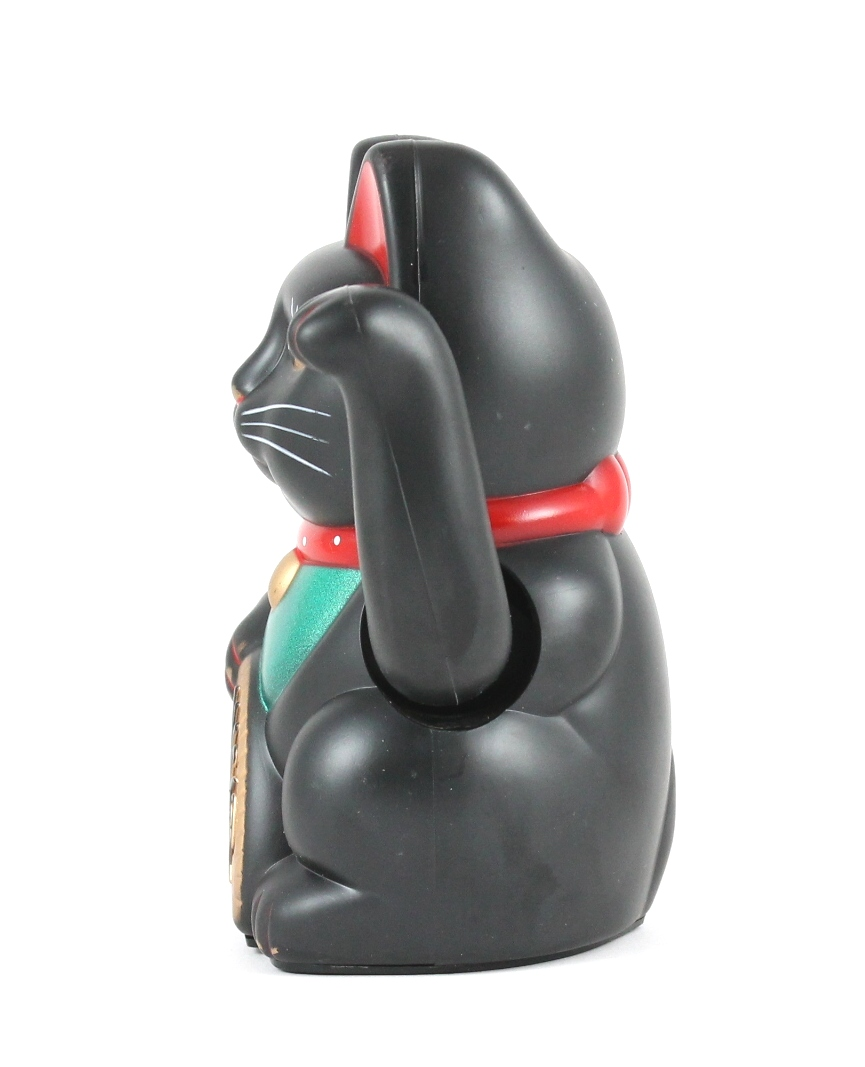 "8"" Beckoning Cat (Black)"