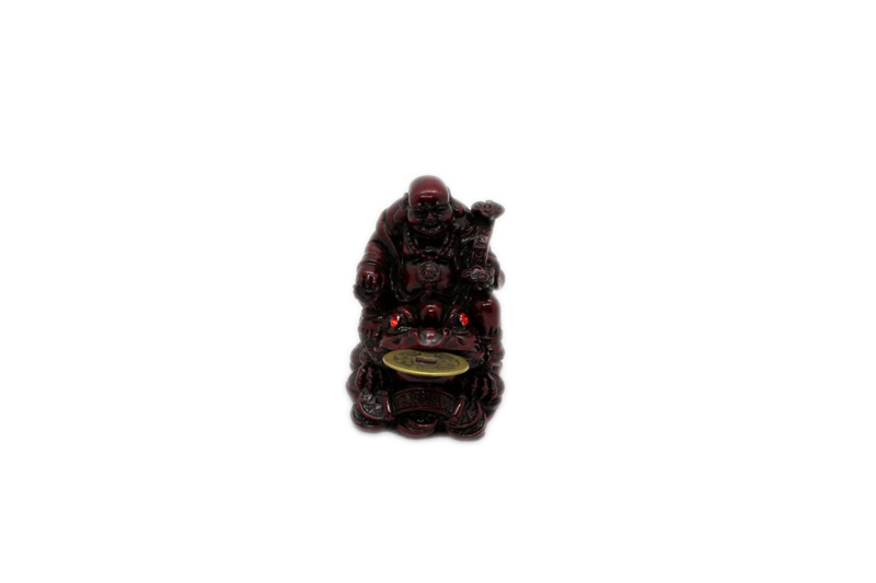 Small Red Resin Buddha on Toad