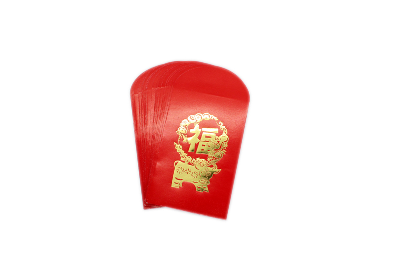 Ox Gold Embossed Red Packet