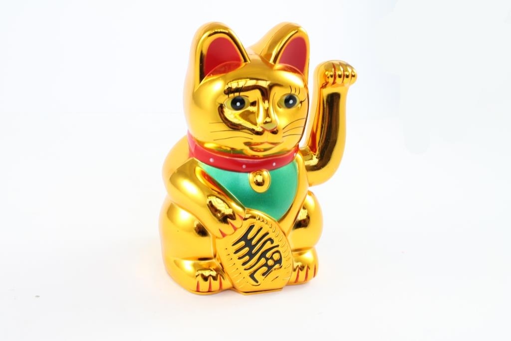 "8"" Beckoning Cat (Gold)"