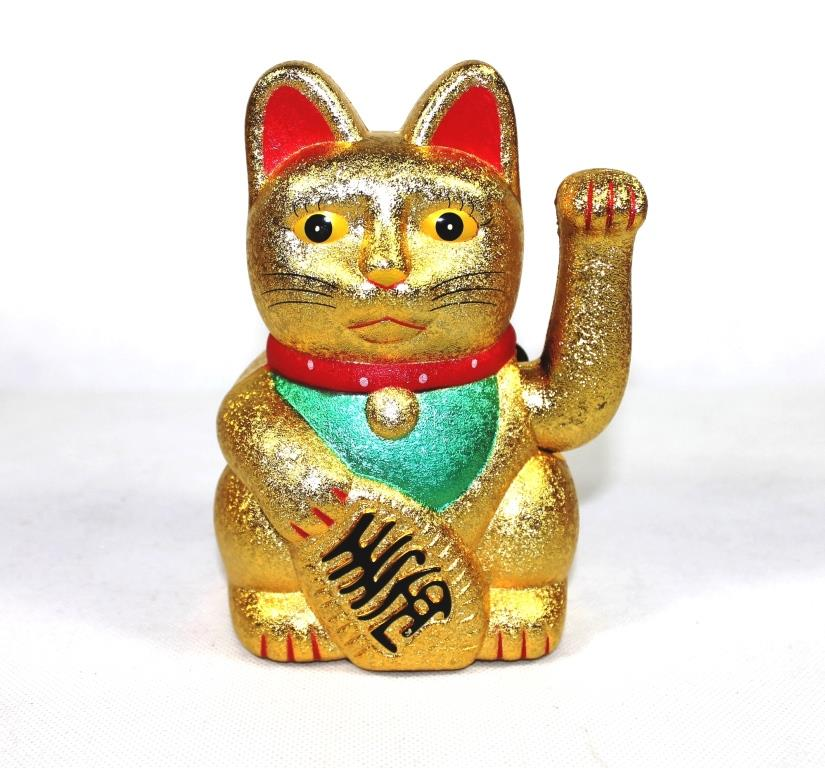 "6"" Beckoning Cat (Sandy Gold)"