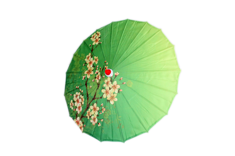 Small Cherry Blossom Parasol - Green