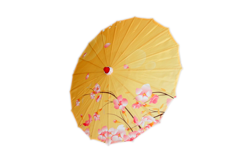 Small Cherry Blossom Parasol - Yellow