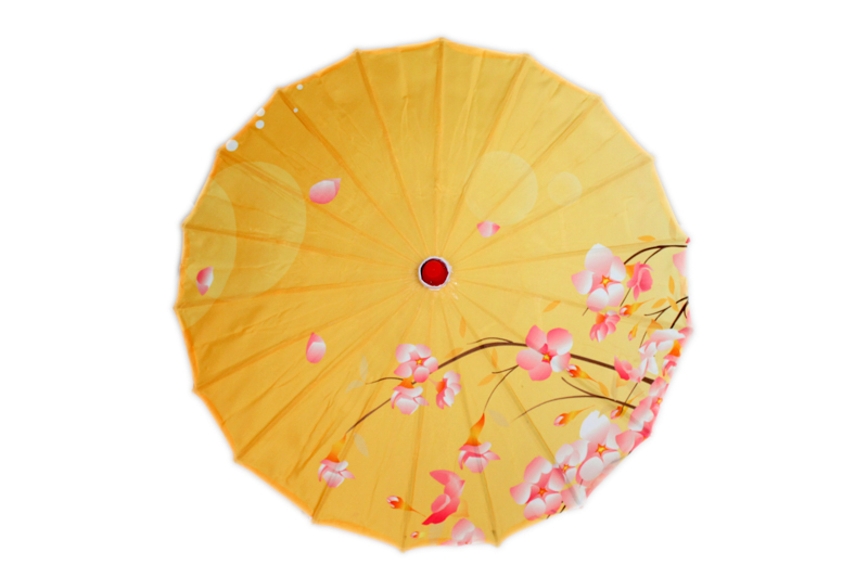 Medium Cherry Blossom Parasol - Yellow