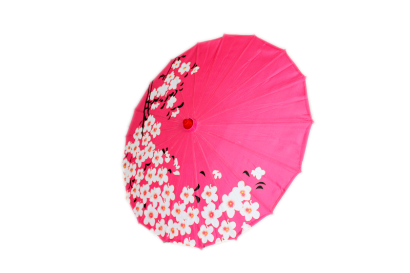 Medium Cherry Blossom Parasol - Pink