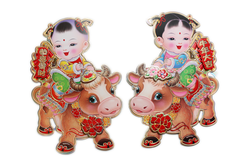 30cm Pair Ox Poster - SX202-3