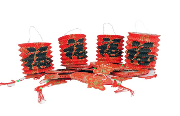 Prosperity Chinese New Year Paper Lanterns - Small