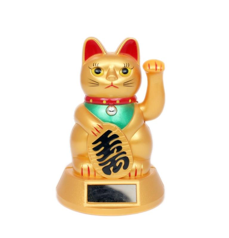 3'' Solar Powered Fortune Cat (Matt Gold)